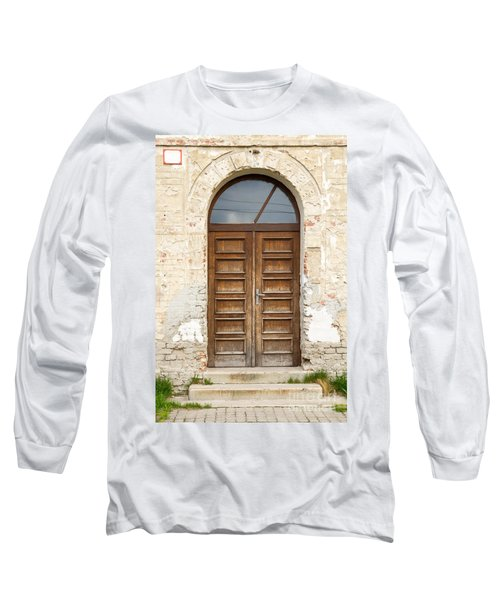 Long Sleeve T-Shirt featuring the photograph Old Church Door by Les Palenik