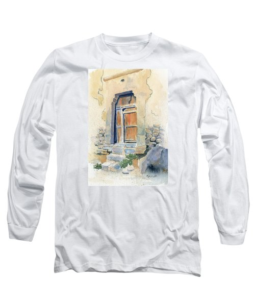 Old Door In Cuzco Peru Long Sleeve T-Shirt