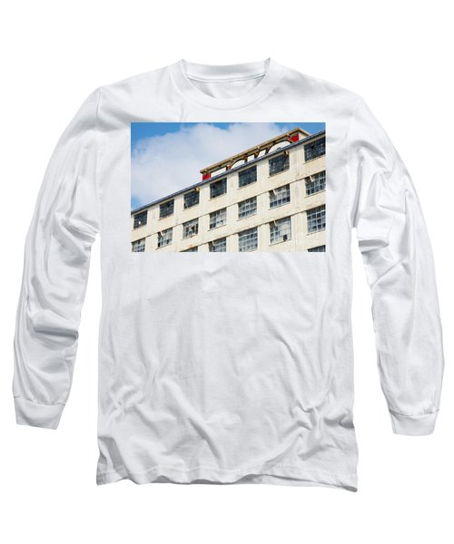 Old Factory Under A Clear Blue Sky Long Sleeve T-Shirt by Nick  Biemans