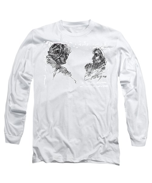 Old Ladies Talking Long Sleeve T-Shirt