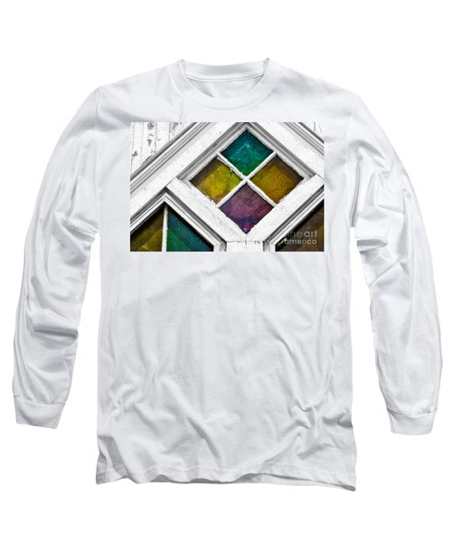 Old Stained Glass Windows Long Sleeve T-Shirt