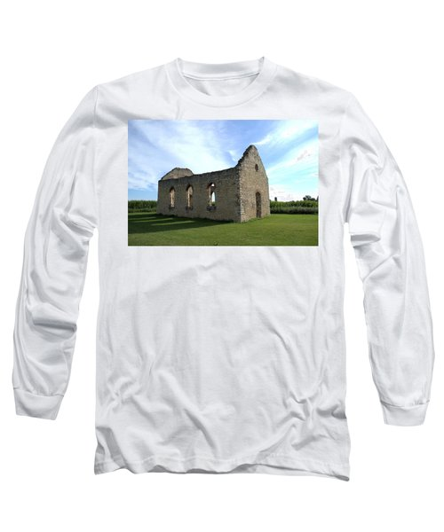 Old Stone Church 2 Long Sleeve T-Shirt by Bonfire Photography