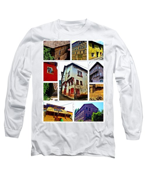 Old Turkish Houses Long Sleeve T-Shirt by Zafer Gurel