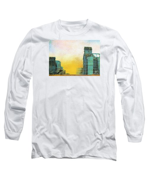 Old Used Grain Elevator Long Sleeve T-Shirt by Janette Boyd
