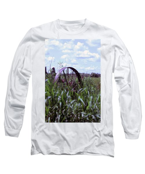 Old Wheel  Long Sleeve T-Shirt by Joann Copeland-Paul