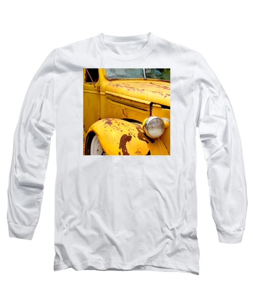 Old Yellow Truck Long Sleeve T-Shirt by Art Block Collections