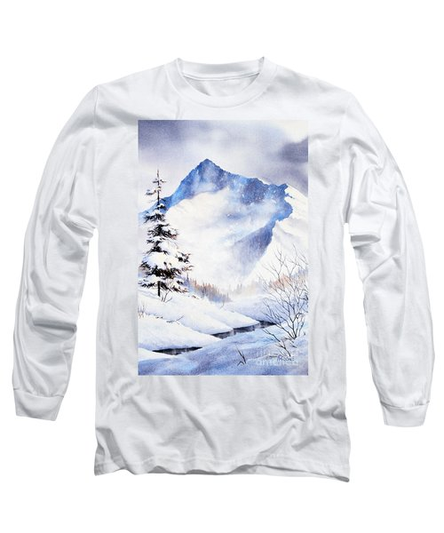 Long Sleeve T-Shirt featuring the painting O'malley Peak by Teresa Ascone