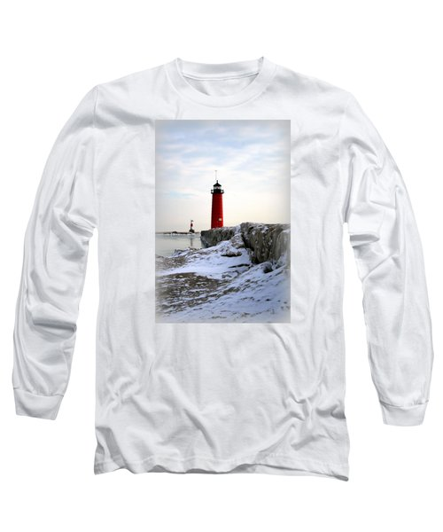 On A Cold Winter's Morning Long Sleeve T-Shirt by Kay Novy