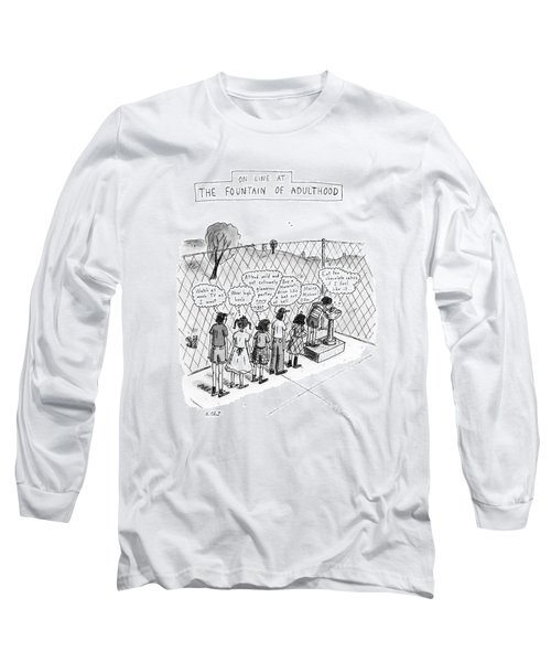 On Line At The Fountain Of Adulthood: Watch Long Sleeve T-Shirt
