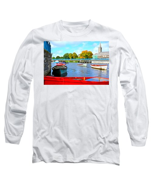 Long Sleeve T-Shirt featuring the photograph On The Garavogue by Charlie and Norma Brock