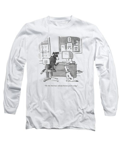 On The Internet Long Sleeve T-Shirt by Peter Steiner