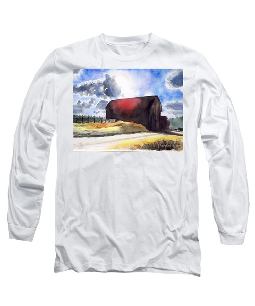 On The Macon Road. - Saline Michigan Long Sleeve T-Shirt by Yoshiko Mishina