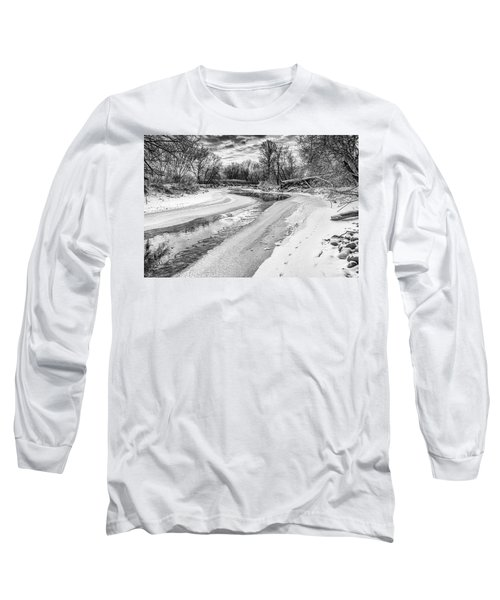 On The Riverbank Bw Long Sleeve T-Shirt