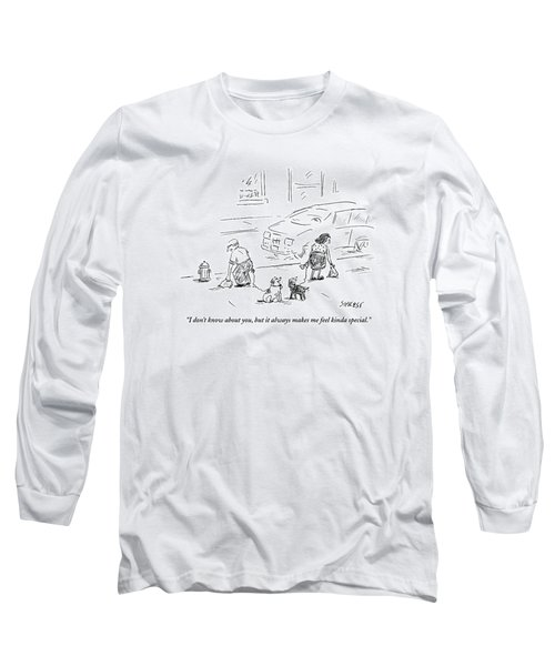 One Dog To Another As Owners Use Plastic Bags Long Sleeve T-Shirt