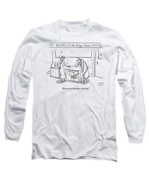One Female Scientist In A Lab Coat Speaks Long Sleeve T-Shirt