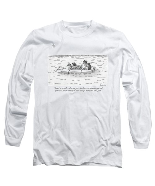One Man Speaks To Three Others Long Sleeve T-Shirt