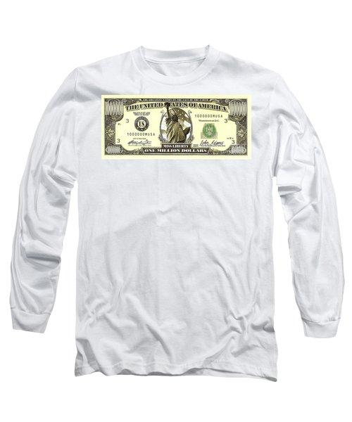 One Million Dollar Bill Long Sleeve T-Shirt