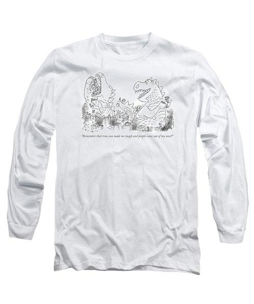 One Monster Devouring A City Long Sleeve T-Shirt