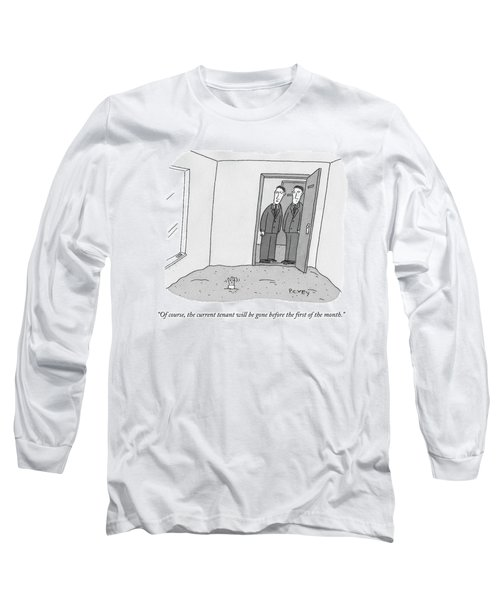 One Room Of An Office Is Full Of Quicksand Long Sleeve T-Shirt