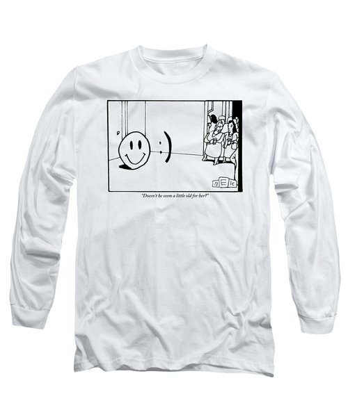 One Traditional Smiley Face Standing Next To An Long Sleeve T-Shirt