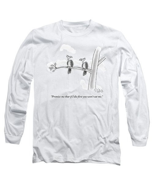One Vulture Speaks To Another On A Tree Branch Long Sleeve T-Shirt