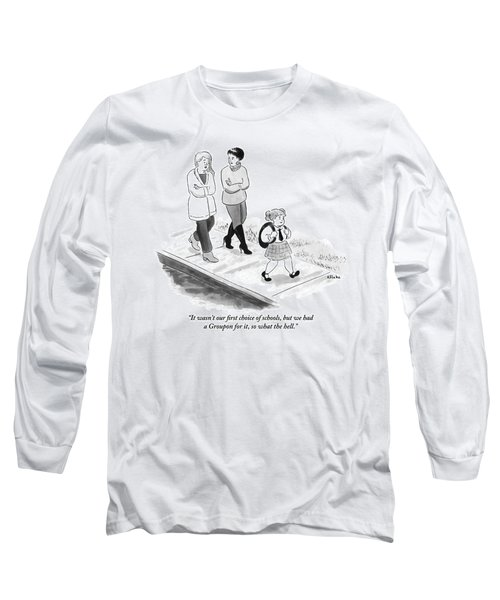 One Woman To Another As They Walk Down The Street Long Sleeve T-Shirt
