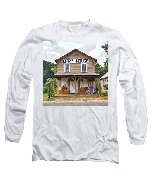 Long Sleeve T-Shirt featuring the photograph Opry House - Square by Gordon Elwell
