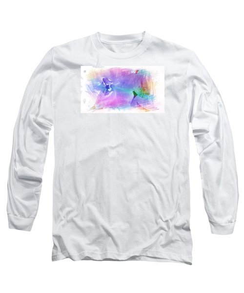 Petals In Violet Blue Long Sleeve T-Shirt