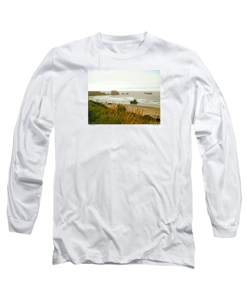 Oregon Beach Long Sleeve T-Shirt by Kenneth De Tore