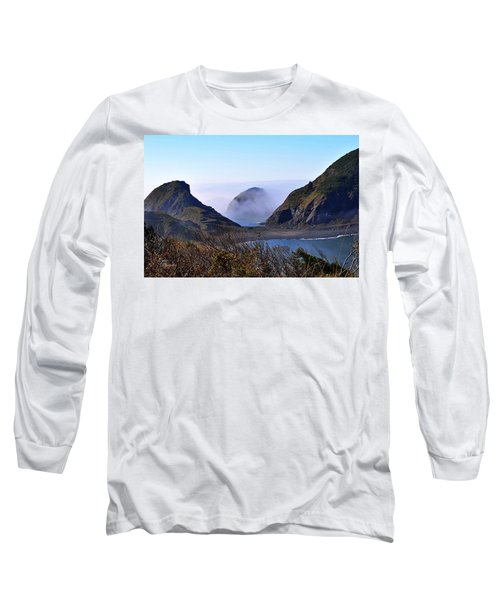 Oregon Coast In Fog Long Sleeve T-Shirt