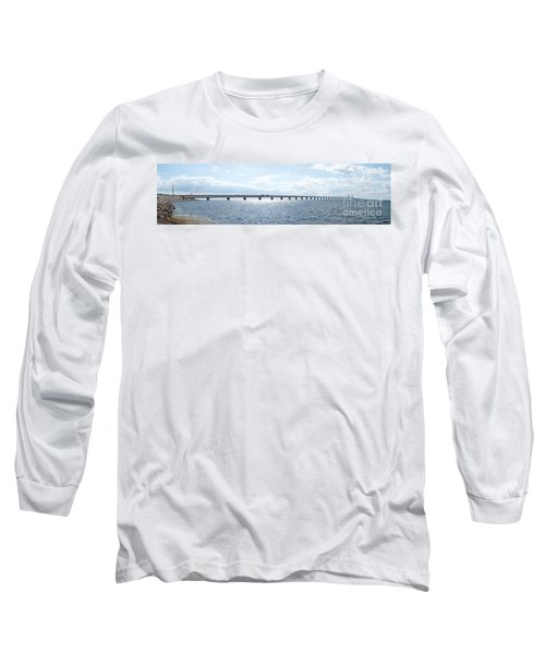 Oresundsbron Panorama 01 Long Sleeve T-Shirt by Antony McAulay