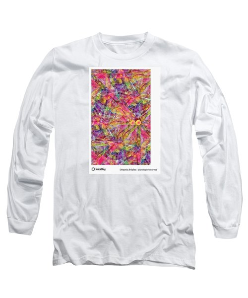 Organic Brights, A Digital Collage By Long Sleeve T-Shirt