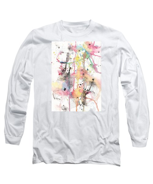 Long Sleeve T-Shirt featuring the painting Organic Clash by Rebecca Davis