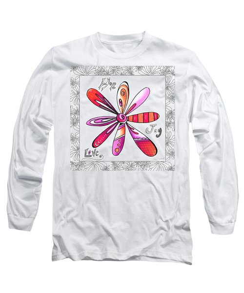 Original Uplifting Inspirational Flower Quote Typography Art By Megan Duncanson Long Sleeve T-Shirt
