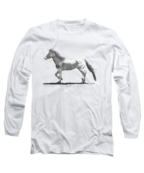 Long Sleeve T-Shirt featuring the drawing Oshunnah Stepping Out For Freedom by Marianne NANA Betts