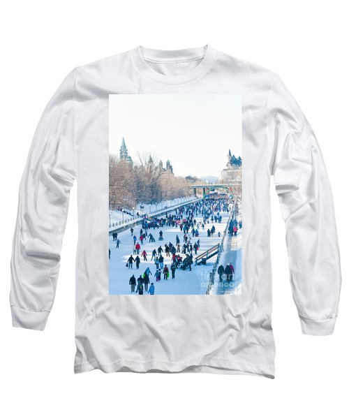 Ottawa Rideau Canal Long Sleeve T-Shirt by Cheryl Baxter