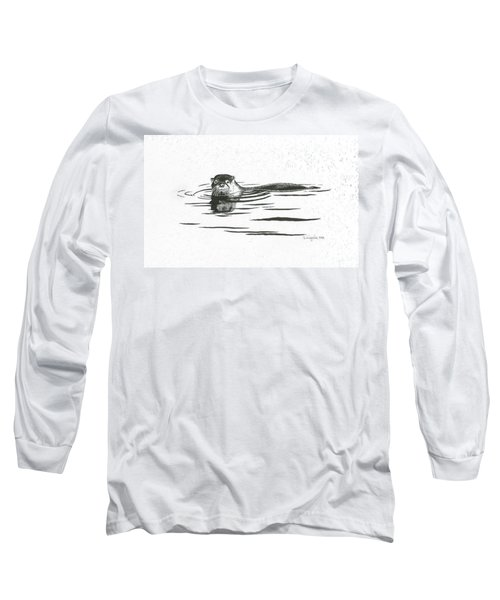 Otter In The Water Long Sleeve T-Shirt