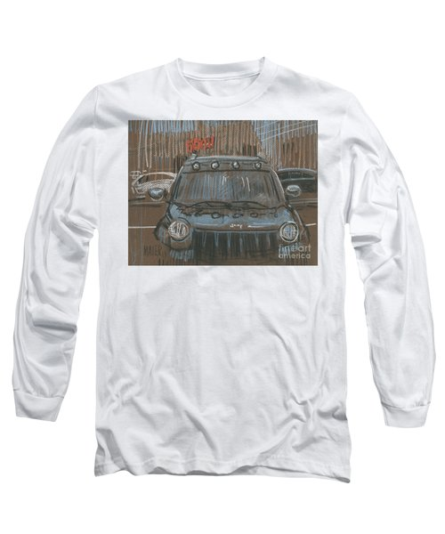 Long Sleeve T-Shirt featuring the painting Outside Biglots by Donald Maier