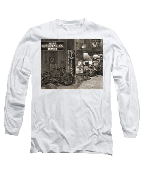 Outside The Old Motorcycle Shop - Spia Long Sleeve T-Shirt