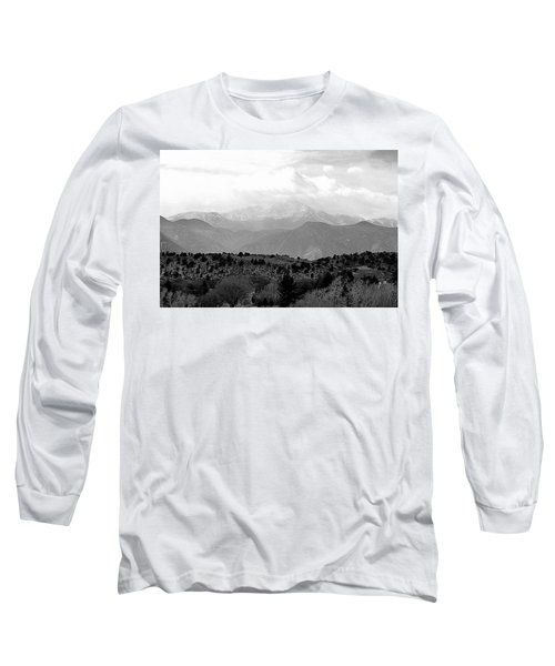 Over The Hills To Pikes Peak Long Sleeve T-Shirt by Clarice  Lakota