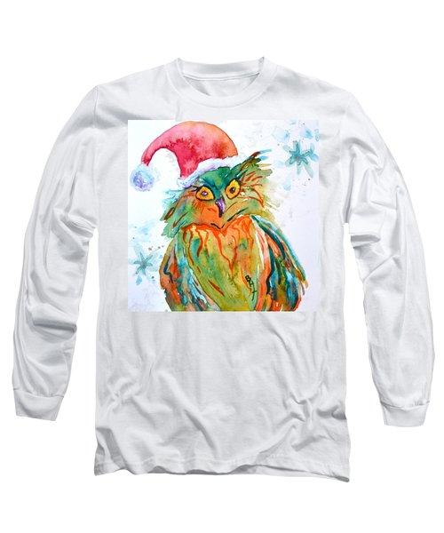 Long Sleeve T-Shirt featuring the painting Owlellujah by Beverley Harper Tinsley
