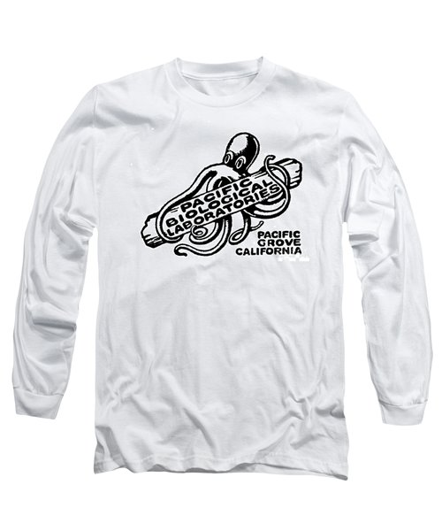 Pacific Biological Laboratories Of Pacific Grove Circa 1930 Long Sleeve T-Shirt by California Views Mr Pat Hathaway Archives