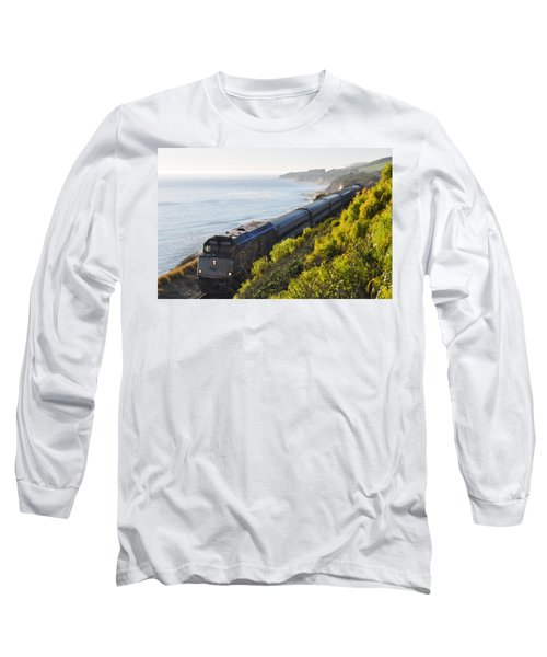 Pacific Surfliner Along The Central Coast Long Sleeve T-Shirt