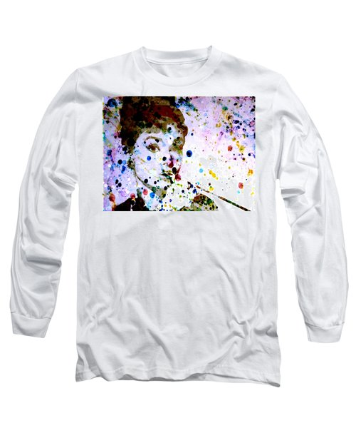 Long Sleeve T-Shirt featuring the digital art Paint Drops by Brian Reaves