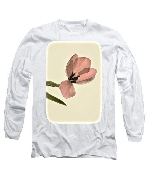 Pale Pink Tulip Long Sleeve T-Shirt