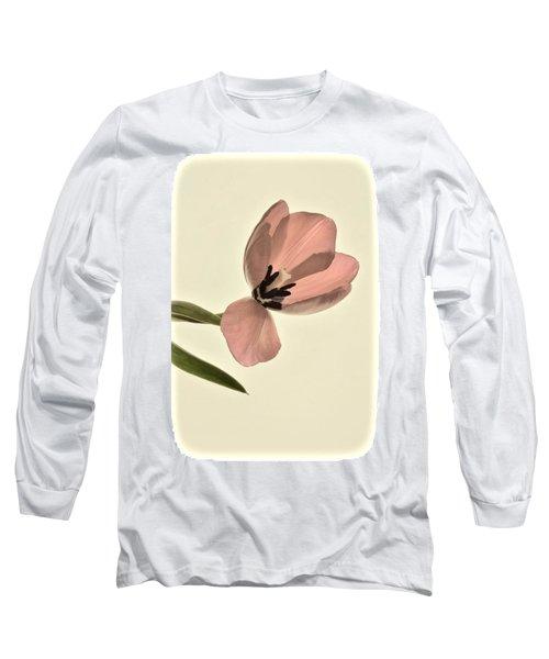 Pale Pink Tulip Long Sleeve T-Shirt