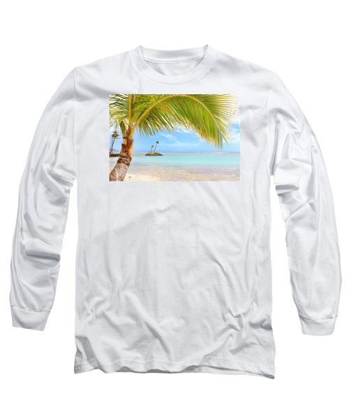 Palm Tree Long Sleeve T-Shirt by Kristine Merc