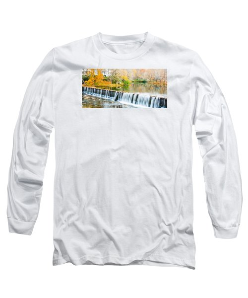 Panorama Of Buck Creek In Autumn Long Sleeve T-Shirt by Parker Cunningham