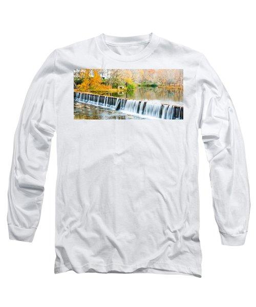 Panorama Of Buck Creek In Autumn Long Sleeve T-Shirt