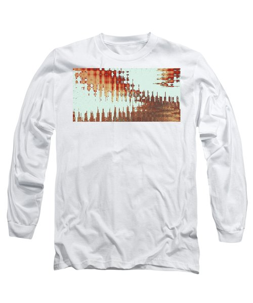 Panoramic City Reflection Long Sleeve T-Shirt